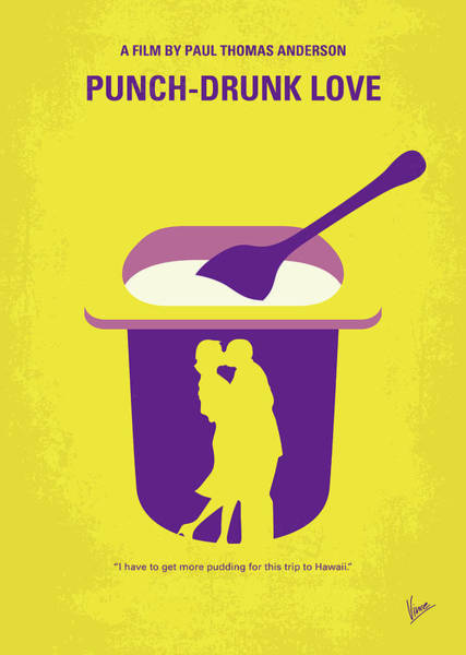 Wall Art - Digital Art - No1022 My Punch-drunk Love Minimal Movie Poster by Chungkong Art