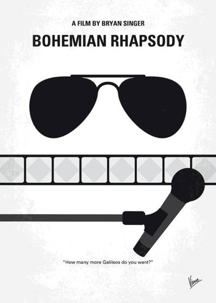 Will Digital Art - No1038 My Bohemian Rhapsody Minimal Movie Poster by Chungkong Art