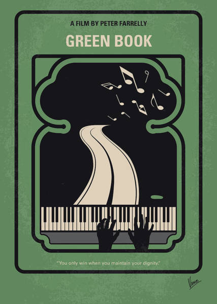 60s Digital Art - No1039 My Green Book Minimal Movie Poster by Chungkong Art