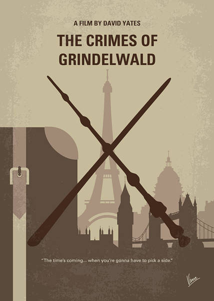 Wall Art - Digital Art - No1042 My The Crimes Of Grindelwald Minimal Movie Poster by Chungkong Art