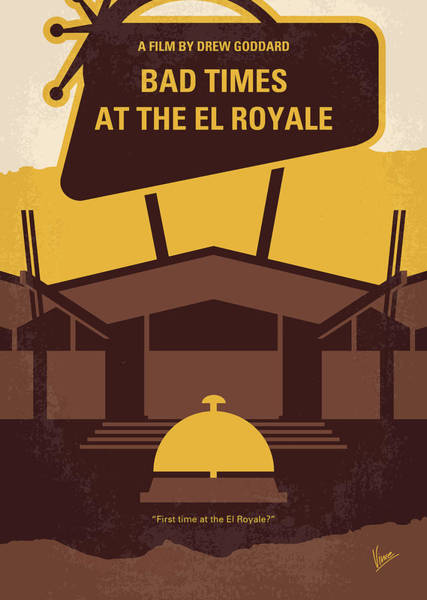 Bad Wall Art - Digital Art - No1044 My Bad Times At The El Royale Minimal Movie Poster by Chungkong Art