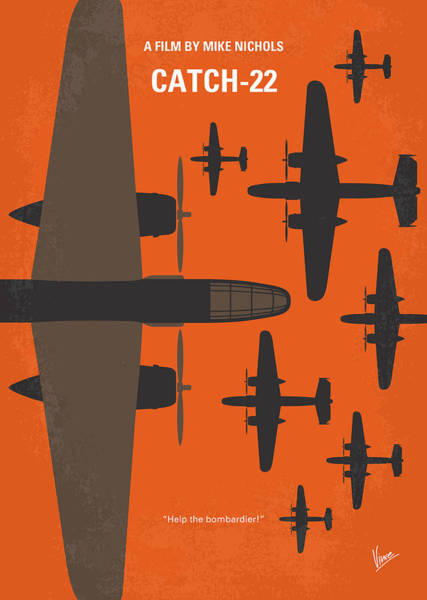 Wall Art - Digital Art - No1047 My Catch 22 Minimal Movie Poster by Chungkong Art
