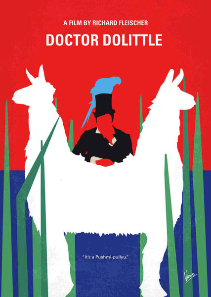 Wall Art - Digital Art - No1048 My Doctor Dolittle Minimal Movie Poster by Chungkong Art