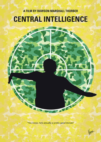 Intelligence Digital Art - No1049 My Central Intelligence Minimal Movie Poster by Chungkong Art