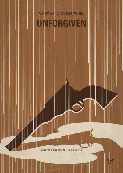 Wall Art - Digital Art - No1050 My Unforgiven Minimal Movie Poster by Chungkong Art