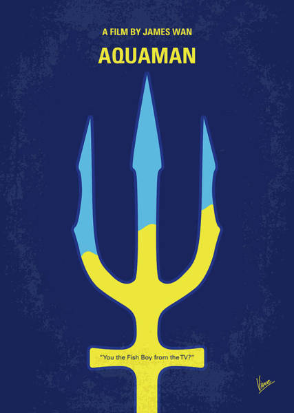 Wall Art - Digital Art - No1052 My Aquaman Minimal Movie Poster by Chungkong Art