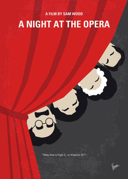 No1053 My A Night At The Opera Minimal Movie Poster Art Print