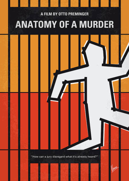 Anatomy Digital Art - No1054 My Anatomy Of A Murder Minimal Movie Poster by Chungkong Art