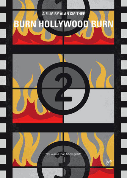 Wall Art - Digital Art - No1056 My Burn Hollywood Burn Minimal Movie Poster by Chungkong Art