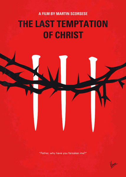 Wall Art - Digital Art - No1062 My The Last Temptation Of Christ Minimal Movie Poster by Chungkong Art