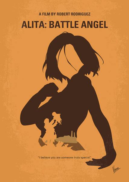 Digital Art - No1063 My Alita Battle Angel Minimal Movie Poster by Chungkong Art