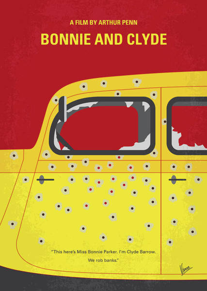 Wall Art - Digital Art - No1072 My Bonnie And Clyde Minimal Movie Poster by Chungkong Art