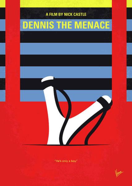 Digital Art - No1073 My Dennis The Menace Minimal Movie Poster by Chungkong Art