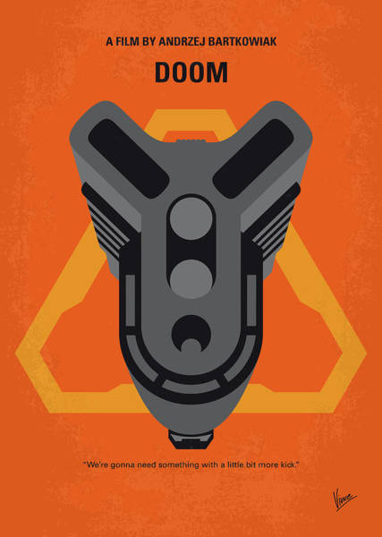 Wall Art - Digital Art - No1075 My Doom Minimal Movie Poster by Chungkong Art