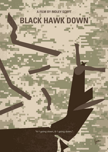 Wall Art - Digital Art - No1076 My Black Hawk Down Minimal Movie Poster by Chungkong Art