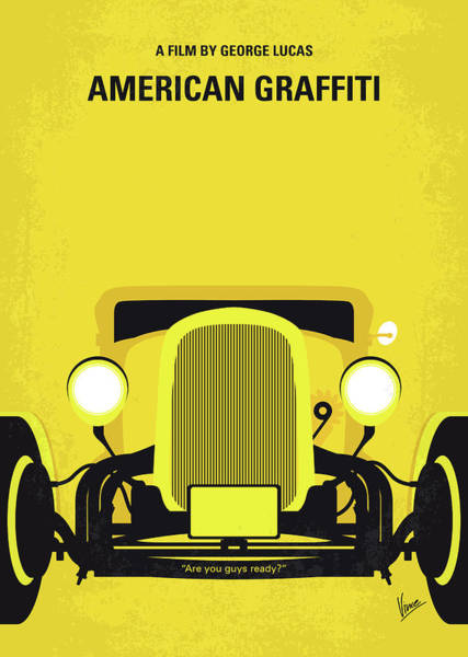 1932 Wall Art - Digital Art - No1085 My American Graffiti Minimal Movie Poster by Chungkong Art