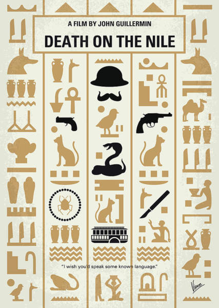 Digital Art - No1086 My Death On The Nile Minimal Movie Poster by Chungkong Art