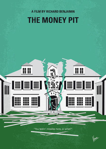 Digital Art - No1091 My The Money Pit Minimal Movie Poster by Chungkong Art
