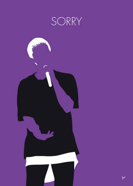 Wall Art - Digital Art - No231 My Justin Bieber Minimal Music Poster by Chungkong Art