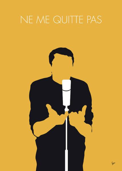 Wall Art - Digital Art - No234 My Jacques Brel Minimal Music Poster by Chungkong Art