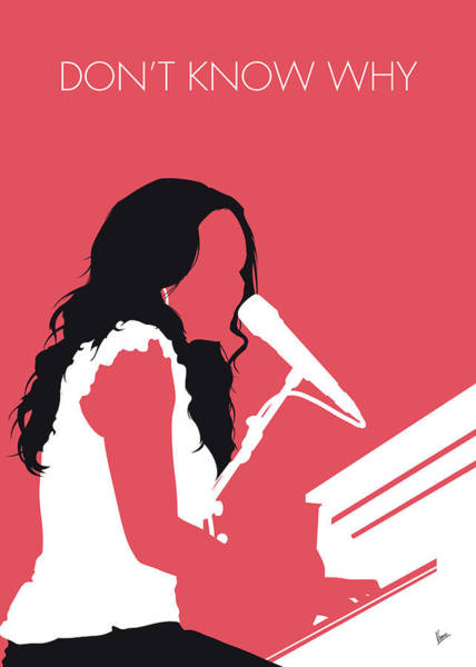 Wall Art - Digital Art - No252 My Norah Jones Minimal Music Poster by Chungkong Art