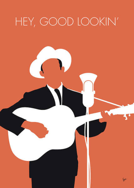 Wall Art - Digital Art - No253 My Hank Williams Minimal Music Poster by Chungkong Art