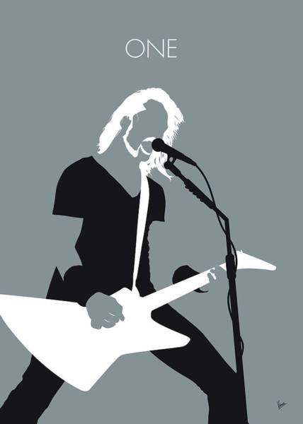 Wall Art - Digital Art - No257 My Metallica Minimal Music Poster by Chungkong Art