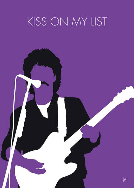 Wall Art - Digital Art - No271 My Hall And Oates Minimal Music Poster by Chungkong Art