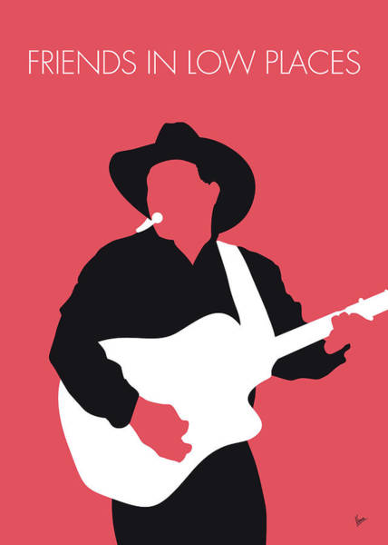 Wall Art - Digital Art - No272 My Garth Brooks Minimal Music Poster by Chungkong Art