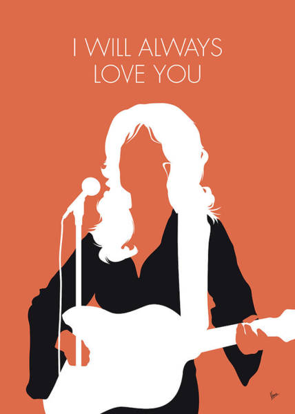 Wall Art - Digital Art - No273 My Dolly Parton Minimal Music Poster by Chungkong Art