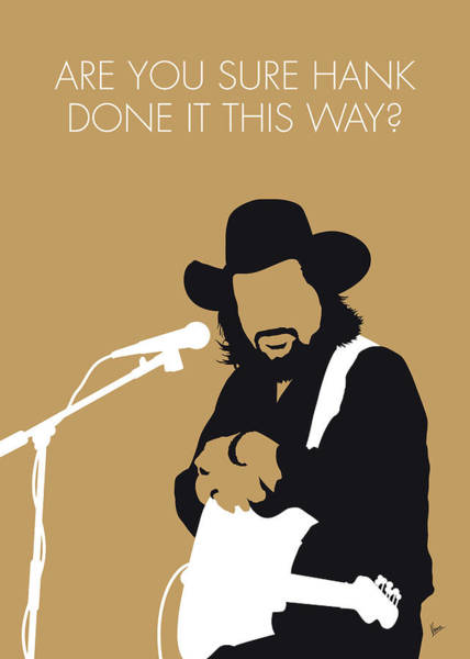 Wall Art - Digital Art - No280 My Waylon Jennings Minimal Music Poster by Chungkong Art