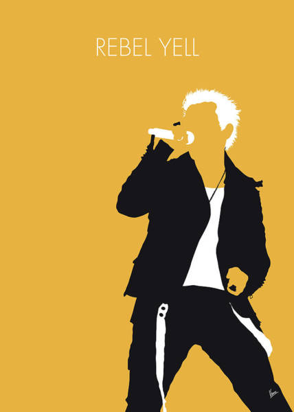Wall Art - Digital Art - No284 My Billy Idol Minimal Music Poster by Chungkong Art