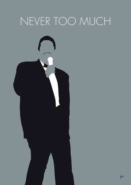 Wall Art - Digital Art - No287 My Luther Vandross Minimal Music Poster by Chungkong Art