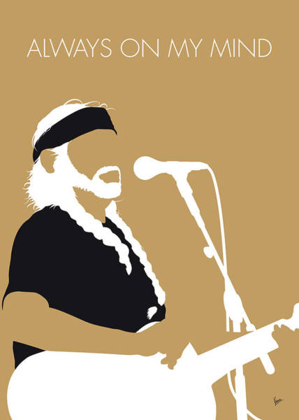 Wall Art - Digital Art - No290 My Willie Nelson Minimal Music Poster by Chungkong Art