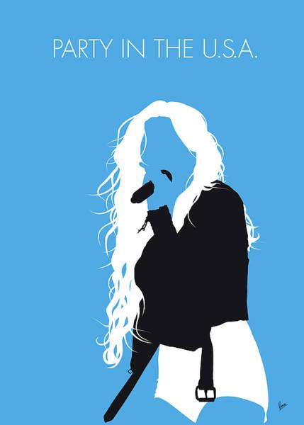 Digital Art - No299 My Miley Cyrus Minimal Music Poster by Chungkong Art