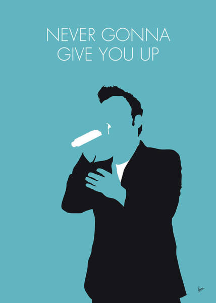 Wall Art - Digital Art - No305 My Rick Astley Minimal Music Poster by Chungkong Art