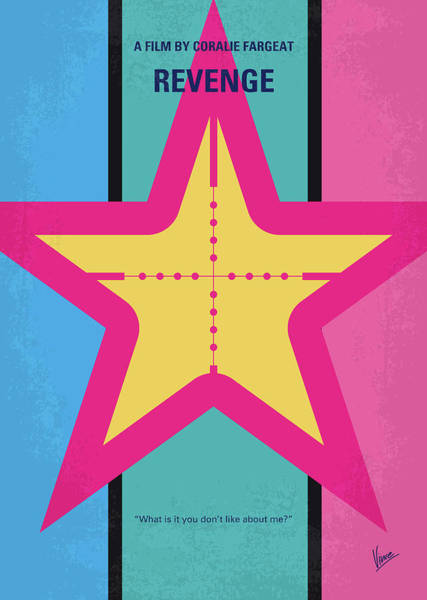 Wall Art - Digital Art - No970 My Revenge Minimal Movie Poster by Chungkong Art