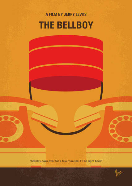 Miami Digital Art - No977 My The Bellboy Minimal Movie Poster by Chungkong Art