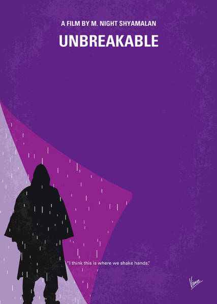 Wall Art - Digital Art - No986 My Unbreakable Minimal Movie Poster by Chungkong Art