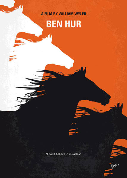 Wall Art - Digital Art - No989 My Ben Hur Minimal Movie Poster by Chungkong Art