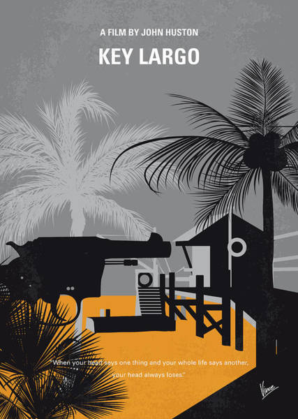 Wall Art - Digital Art - No998 My Key Largo Minimal Movie Poster by Chungkong Art