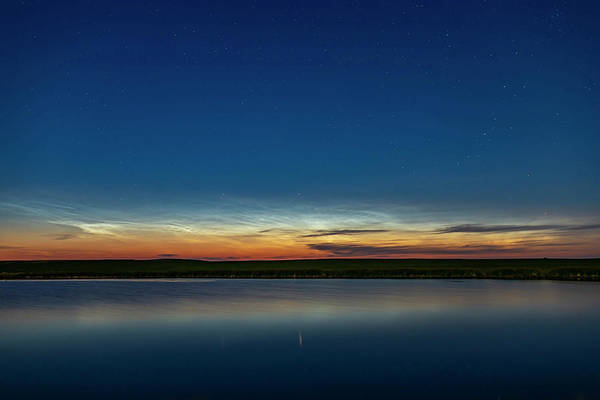 Wall Art - Photograph - Noctilucent Clouds And Capella Star Low by Alan Dyer
