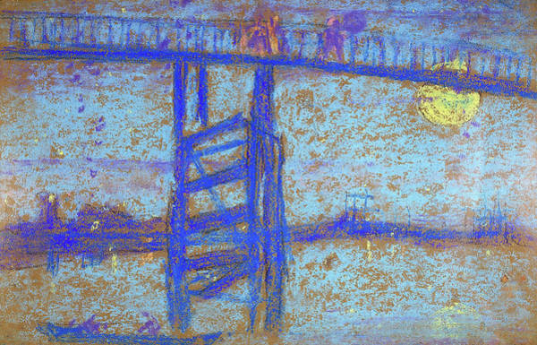 Wall Art - Painting - Nocturne, Battersea Bridge - Digital Remastered Edition by James McNeill Whistler