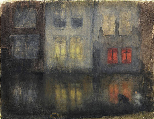 Wall Art - Painting - Nocturne, Black And Red - Digital Remastered Edition by James McNeill Whistler