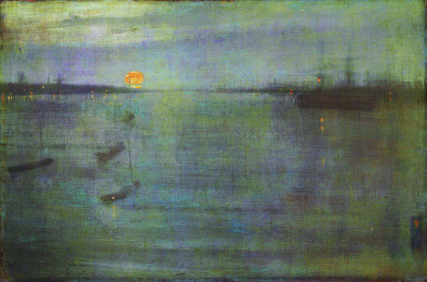 Wall Art - Painting - Nocturne, Blue And Gold, Southampton Water - Digital Remastered Edition by James McNeill Whistler