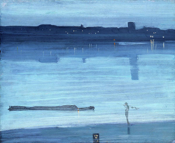 Wall Art - Painting - Nocturne, Blue And Silver, Chelsea - Digital Remastered Edition by James McNeill Whistler