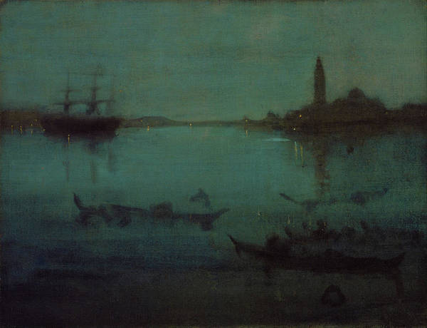 Wall Art - Painting - Nocturne In Blue And Silver - Digital Remastered Edition by James McNeill Whistler
