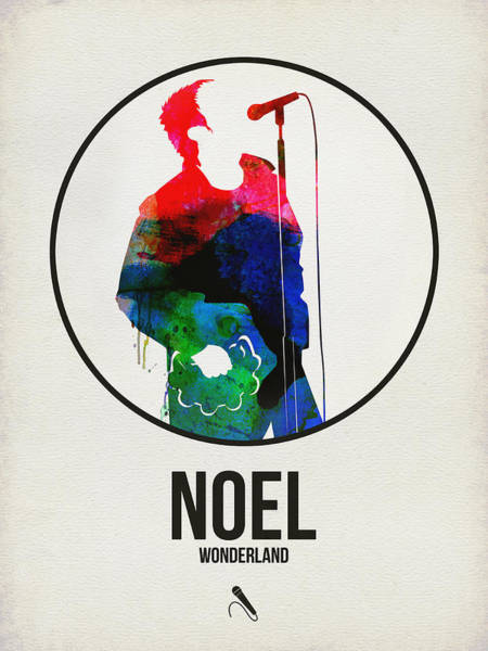 Hard Rock Wall Art - Digital Art - Noel Gallagher Watercolor by Naxart Studio