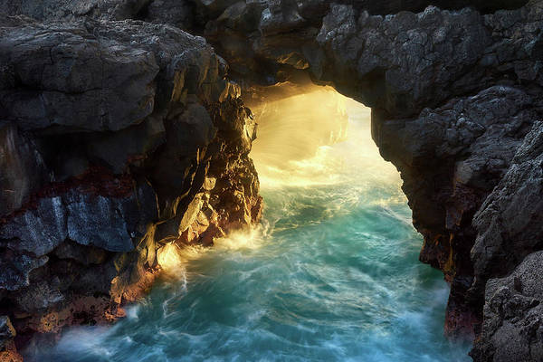 Photograph - Noio Point Sea Arch by Christopher Johnson