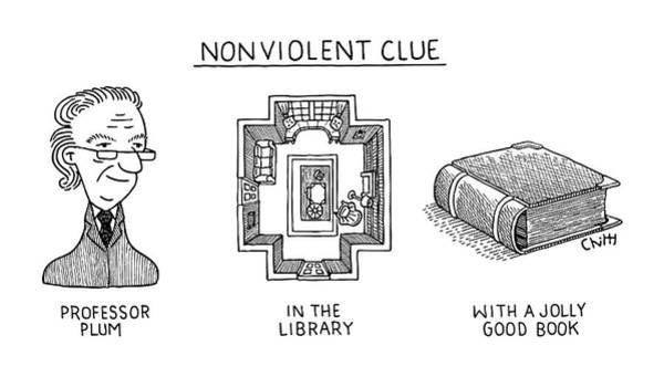 Nothing Drawing - Nonviolent Clue by Tom Chitty